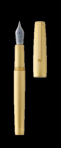 Stylo plume CLIPPER or jaune/brossé