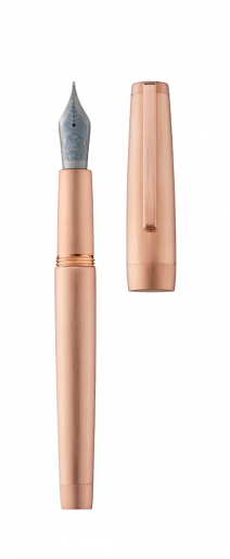 Stylo plume CLIPPER or rose/brossé