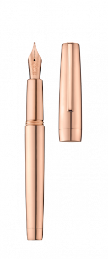 Stylo plume CLIPPER or rose/poli