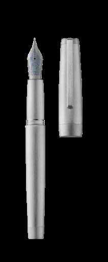 Fountain pen CLIPPER palladium/brushed