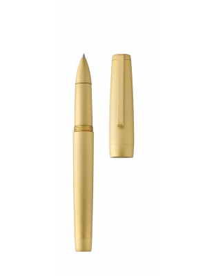 Roller pen CLIPPER yellow gold/brushed