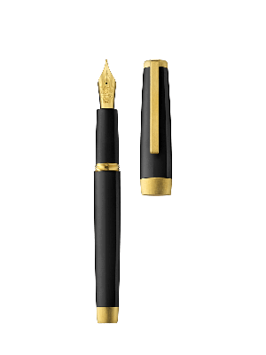 Fountain pen SLOOP black/gold