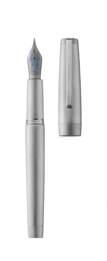 Stylo plume CLIPPER palladium/brossé
