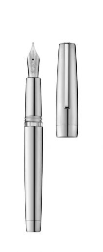 Fountain pen CLIPPER palladium/polished (body filling)