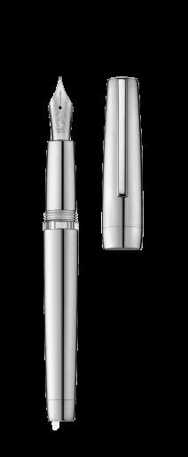 Stylo plume à réservoir CLIPPER palladium/poli