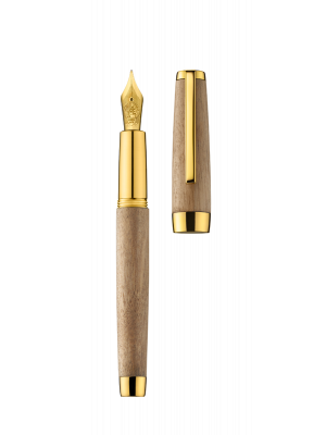 Fountain pen CARAVELLE walnut/gold