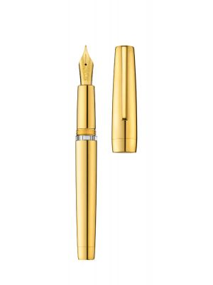 Fountain pen CLIPPER yellow gold/polished (body filling)